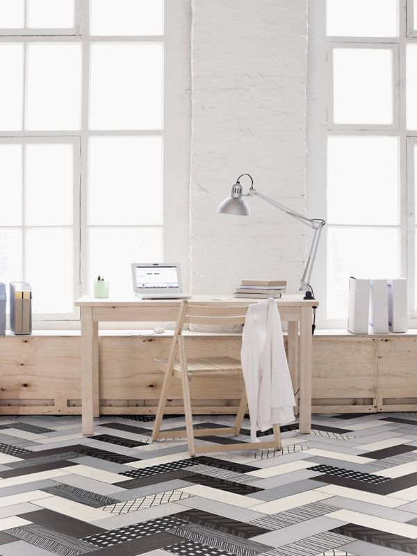 Herringbone the pattern for petite places special spaces for Carrelage wow