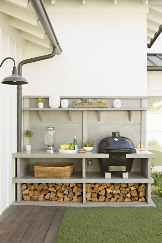 5 inspiring ideas for your outdoor entertaining area for Simple outdoor kitchen ideas