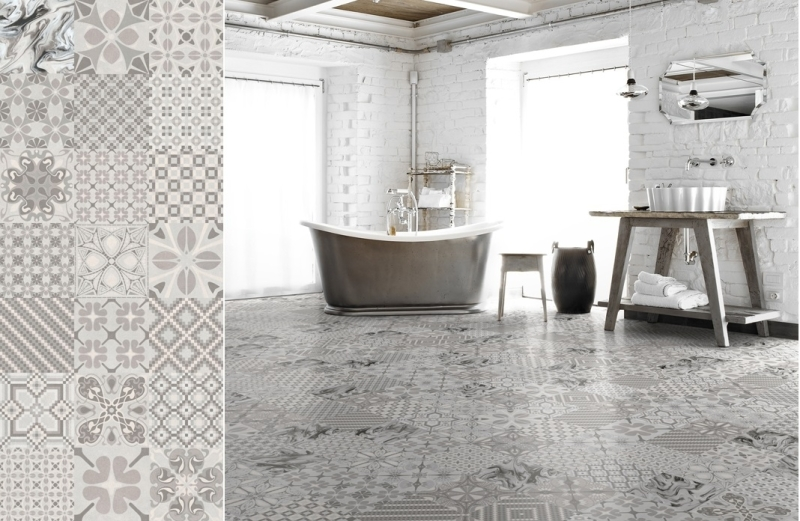 Above a concept of the tiles we selected mixed pattern tiles look