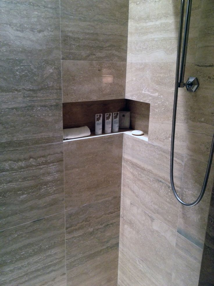 Tiled Shower Niche & Shower Shelf = Bathroom Awesome. Sunroom Flooring. Earthwerks Flooring Reviews. Plant Mister Bottle. Shutter Headboard. Chop Bloc. Wood Deck Ideas. Built In Banquette. Kb Builders