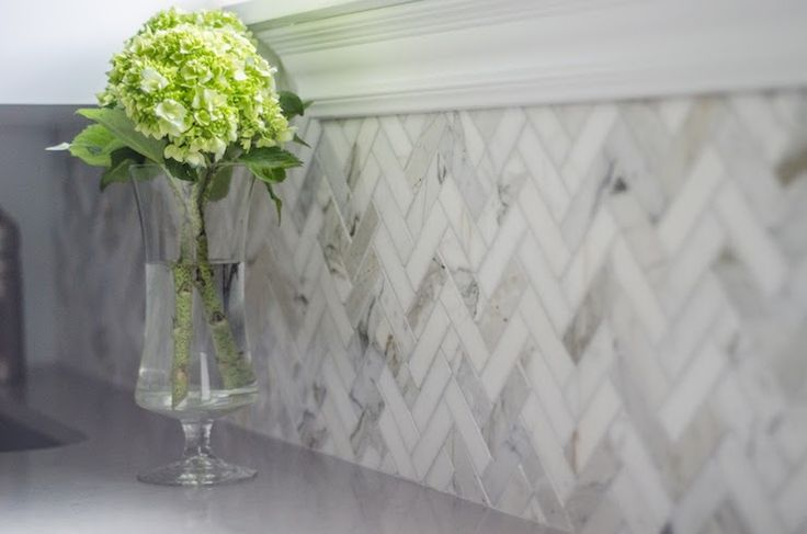 Herringbone Splashback Tiles Amp Rescue Remedy For Small Spaces