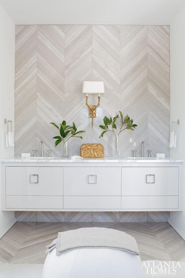 30+ Herringbone Pattern Tiled Floor & Wall Surfaces