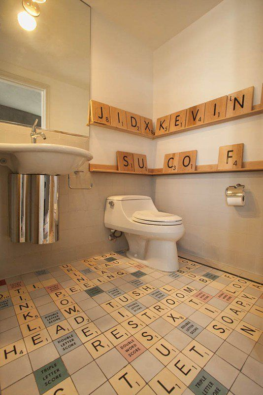 Quirky bathrooms why so serious for Quirky bathroom designs