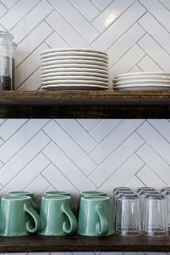 Kitchen Tiles Geelong herringbone splashback tiles & rescue remedy for small spaces