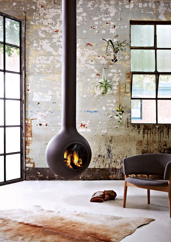 Beautiful Hanging Fireplace