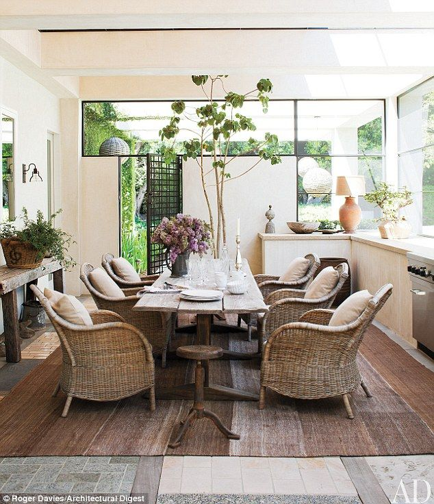 Ellen Degeneres and Portia De Rossi's dining room.
