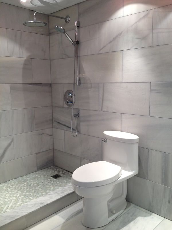 Large Format Tiles Small Bathroom