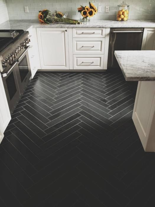 Kitchen Tile Flooring Ideas Herringbone With Border